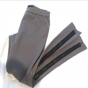 BCBG Grey Leggings with zippers